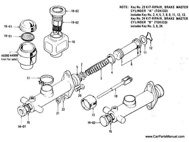 Nissan Patrol 60 Brake Master Cylinder (Single)