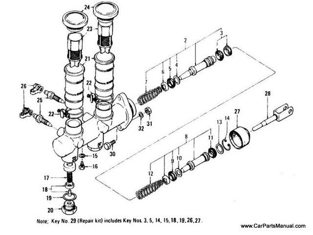 Nissan Patrol 60 Brake Master Cylinder (Tandem)