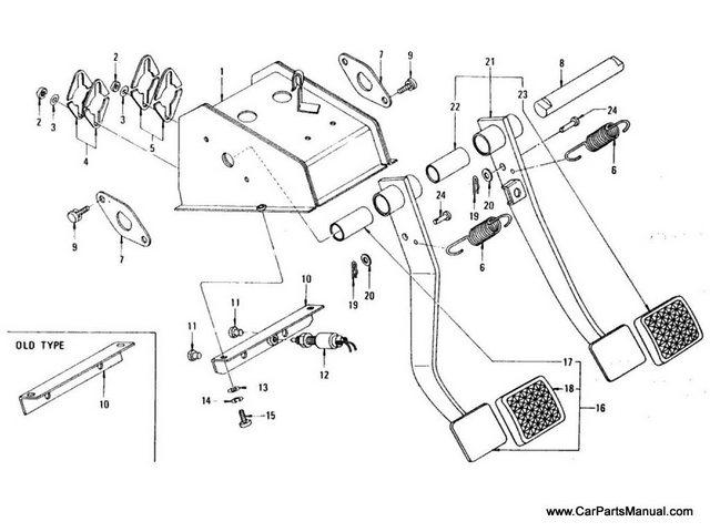 Nissan Patrol 60 Brake & Clutch Pedal (Bracket)