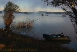 Lac de Montbel au lever du jour