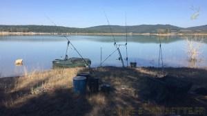 Lac de Montbel en fin d'après-midi de septembre