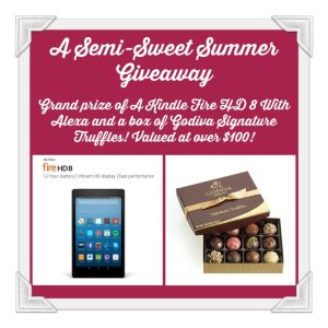 GiveAway opportunity for Jan-Elder-author of a-semi-sweet-summer featured on CarpeDiem.fyi as part of the Celebrate Lit tour