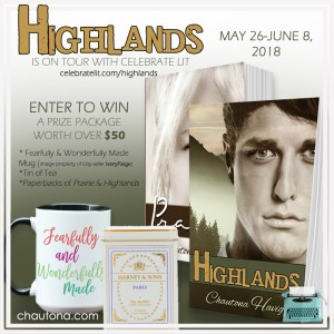 GiveAway for Chautona Havig, author of Highlands on tour with Celebrate Lit and featured on CarpeDiem.fyi