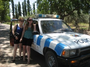 Saved by La Policia!  Time for wine!