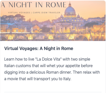 Virtual Voyages: A Night In Rome