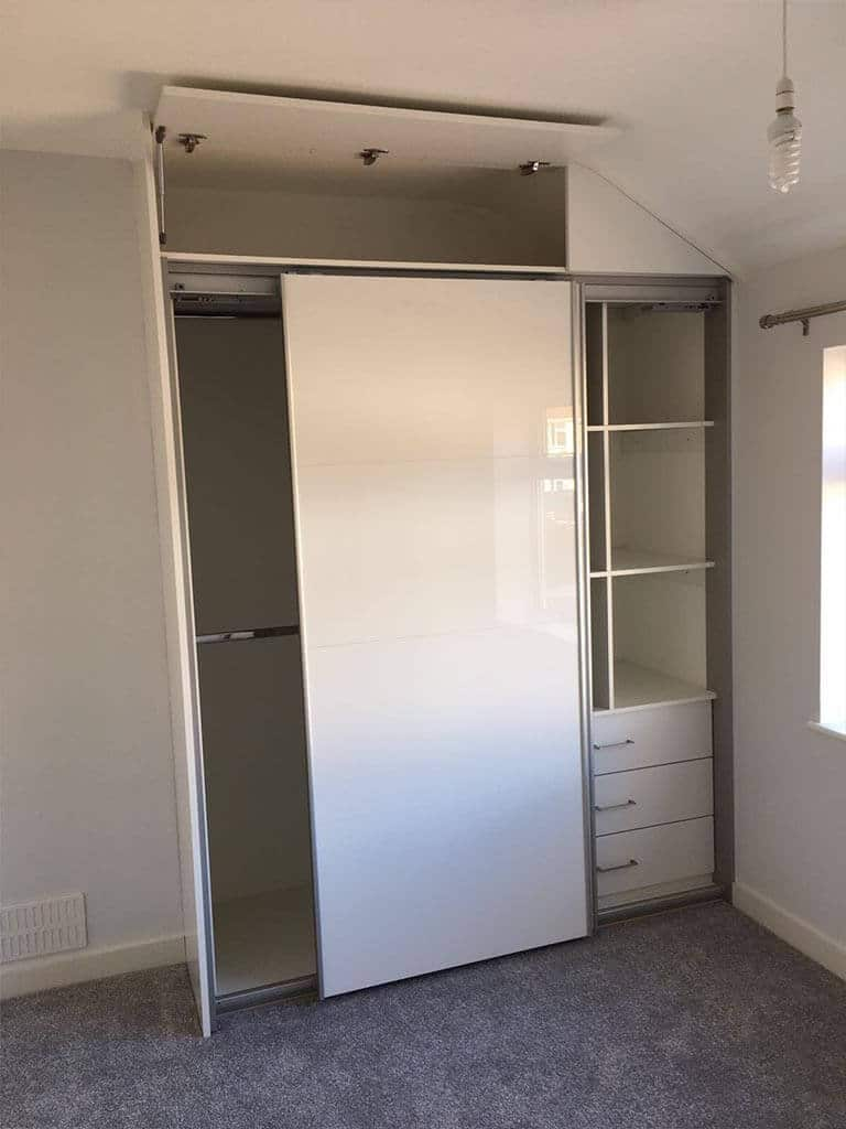Bedroom Carpentry bespoke sloped open wardrobes Norwich