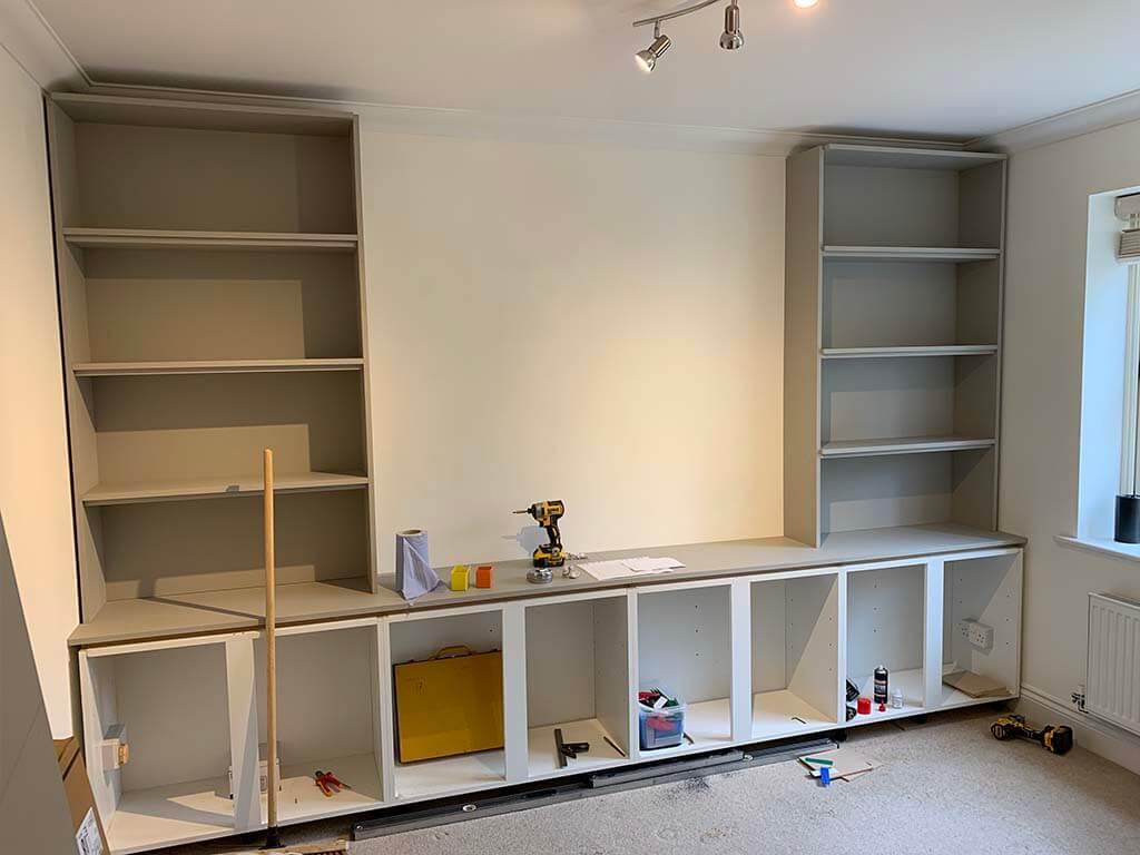 Bookcase Work in progress Carpentry