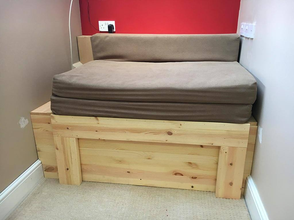 Built in Futon bed storage Norwich Carpenter