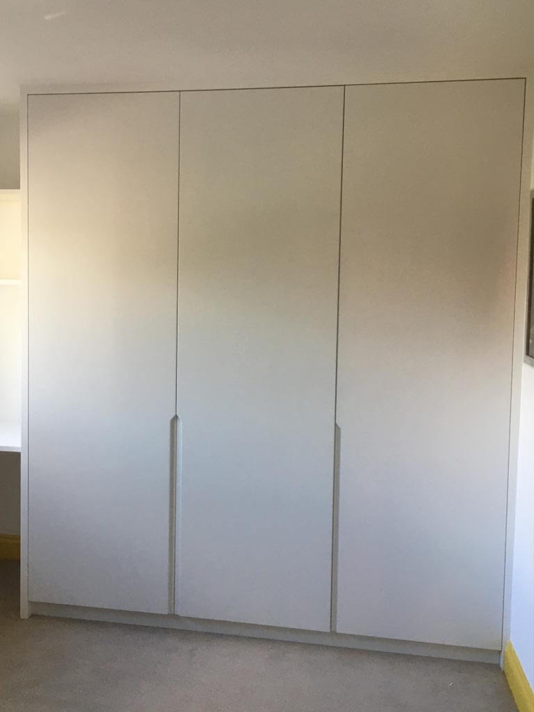 Integra matt white wardrobes