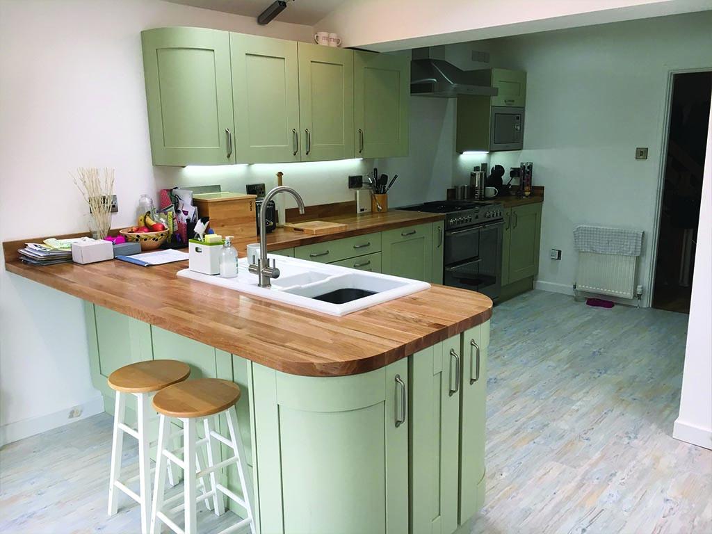 Norwich Carpenter Curved Kitchen Installed