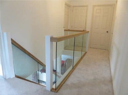 Norwich wooden stair handrails