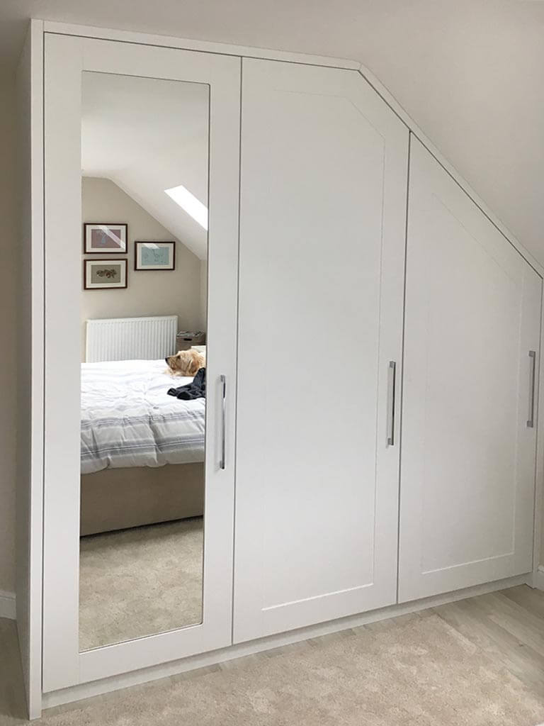 Sloping ceiling mirrored wardrobes