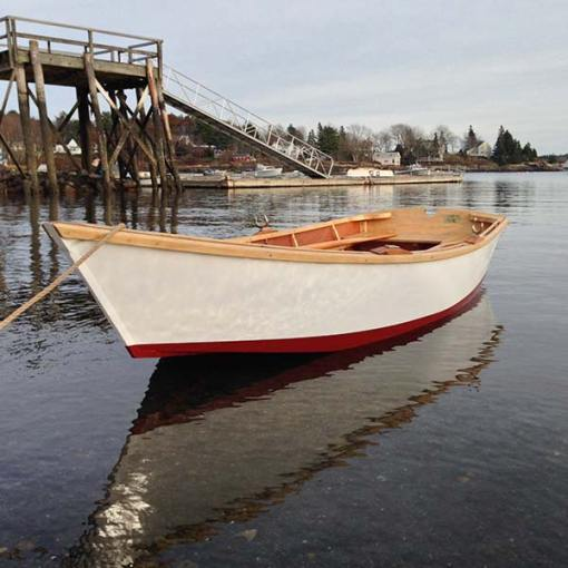 new dinghy in the water