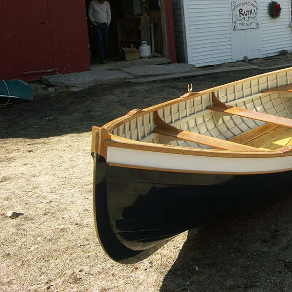 new boat by the barn