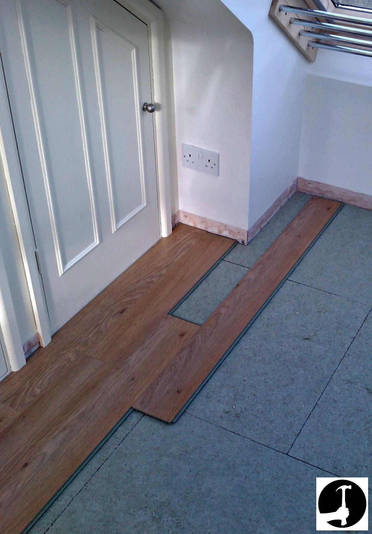laying laminate flooring on concrete