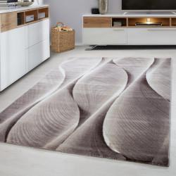tapis de salon design moderne pour jeunes parma 9310 marron