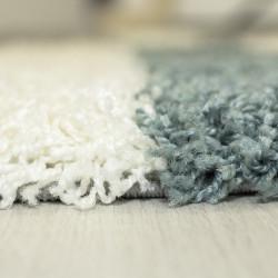 tapis de salon a poils longs poils longs hauteur 3 cm gris blanc turquoise