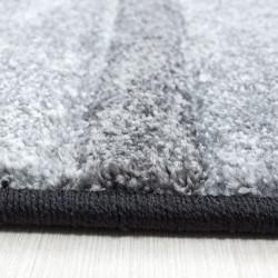 tapis de salon 3d design moderne coupe contour gris hawaien