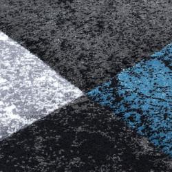 tapis de salon 3d decoupe au design moderne turquoise hawaienne
