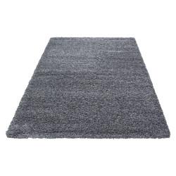tapis de salon a poils longs dream shaggy couleur unie hauteur de poils 5cm gris