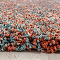 tapis shaggy de salon de haute qualite a poils longs a poils longs terra bleu beige chine