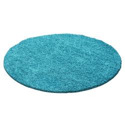 tapis de salon a poils longs a poils longs hauteur de poils 3cm uni couleur turquoise