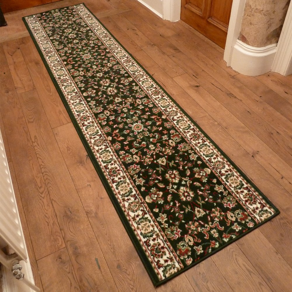 Dark Green Hall Runner Rug  Persian  Carpet Runners UK
