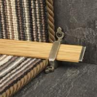 Tudor Pewter Finish Light Wood Stair Carpet Runner Rods