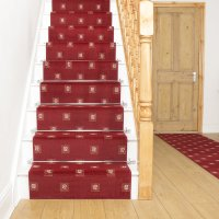 Square Red - Stair Carpet Runner For Narrow Staircase ...