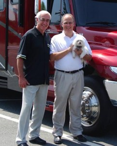 """Ron with Jeff White and """"Lacy"""" in Winston-Salem, NC"""