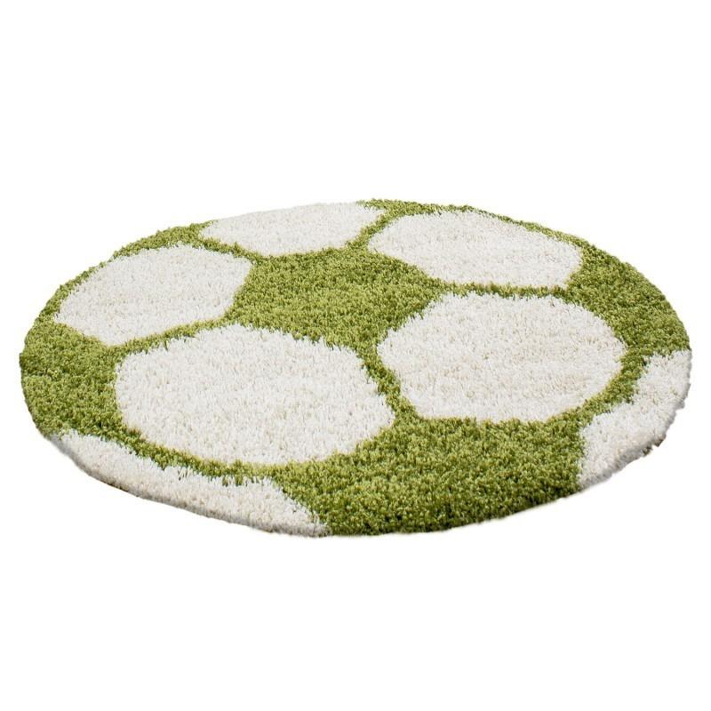 tapis enfant football pour chambre d enfant vert blanc