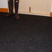 Crystal Black Carpet Tiles | Durable Textured Flooring