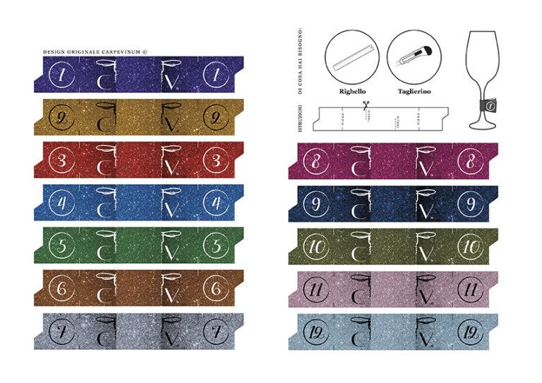 segnacalici numerati e colorati