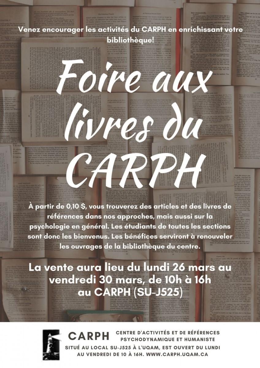 Foire aux livres du CARPH