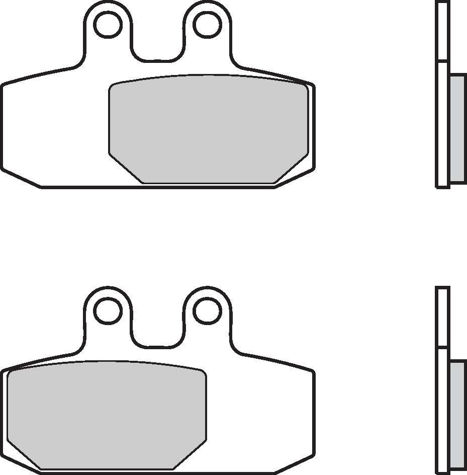medium resolution of brake pads brembo 07057cc carbon ceramic 1 couple for 1 disk