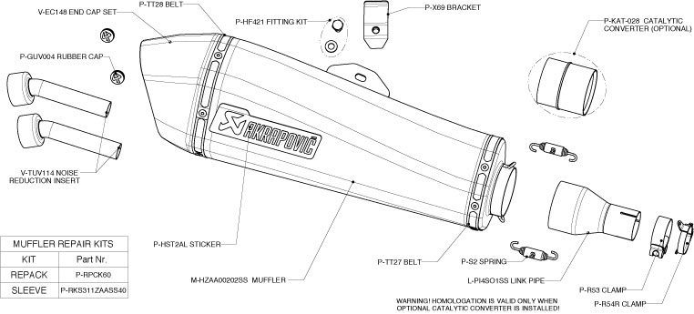 Akrapovic Exhaust S-PI4SO3-HRSS for Ducati Monster 1100