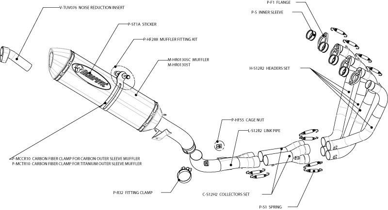 Akrapovic Full Exhaust S-S12R2-RT/1