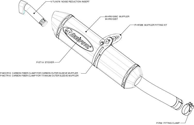 Akrapovic Exhaust S-S12SO3-HRT