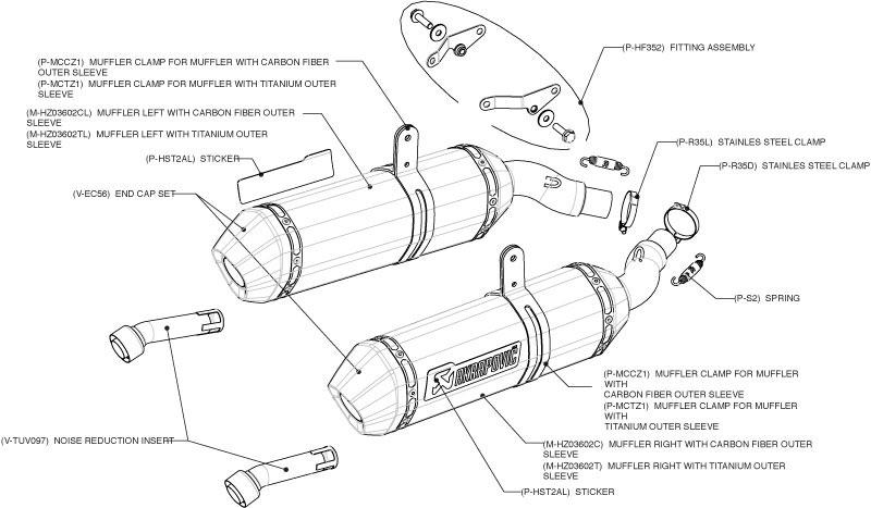 Akrapovic Exhaust S-TST675SO1-HZC
