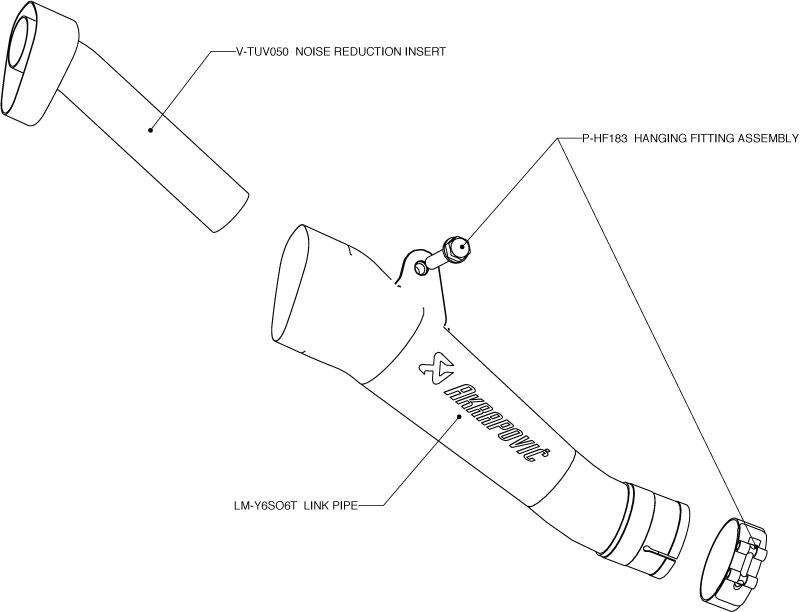 Akrapovic Exhaust SM-Y6SO6T