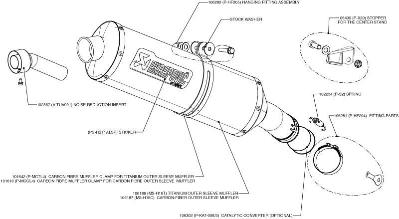 Akrapovic Exhaust SS-Y10SO7-HLT