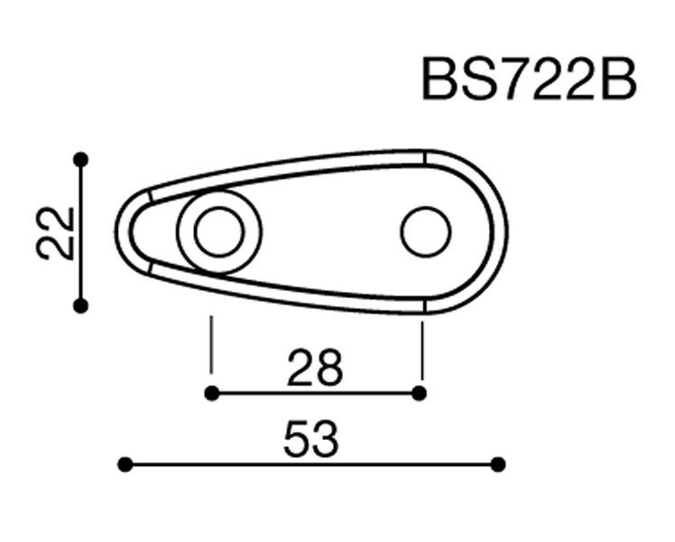 Rizoma Mirror Adapter BS722B for Piaggio MP3 125/250/300/400