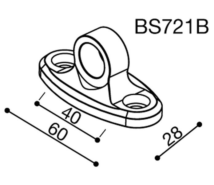 Adattatore Specchietto Rizoma BS721B