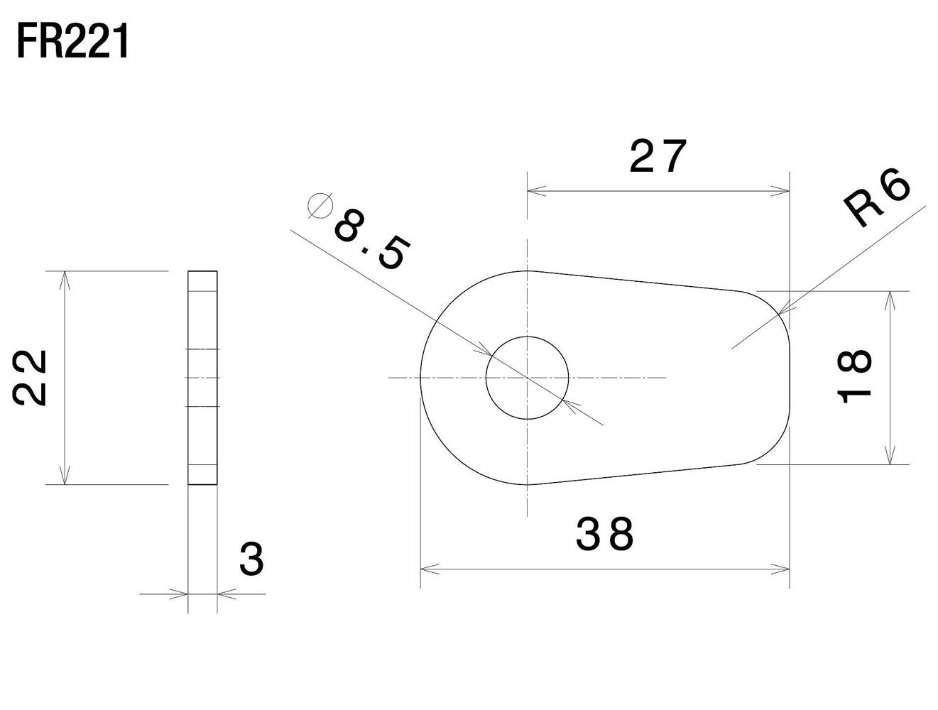 Piastrine Frecce Rizoma FR221B