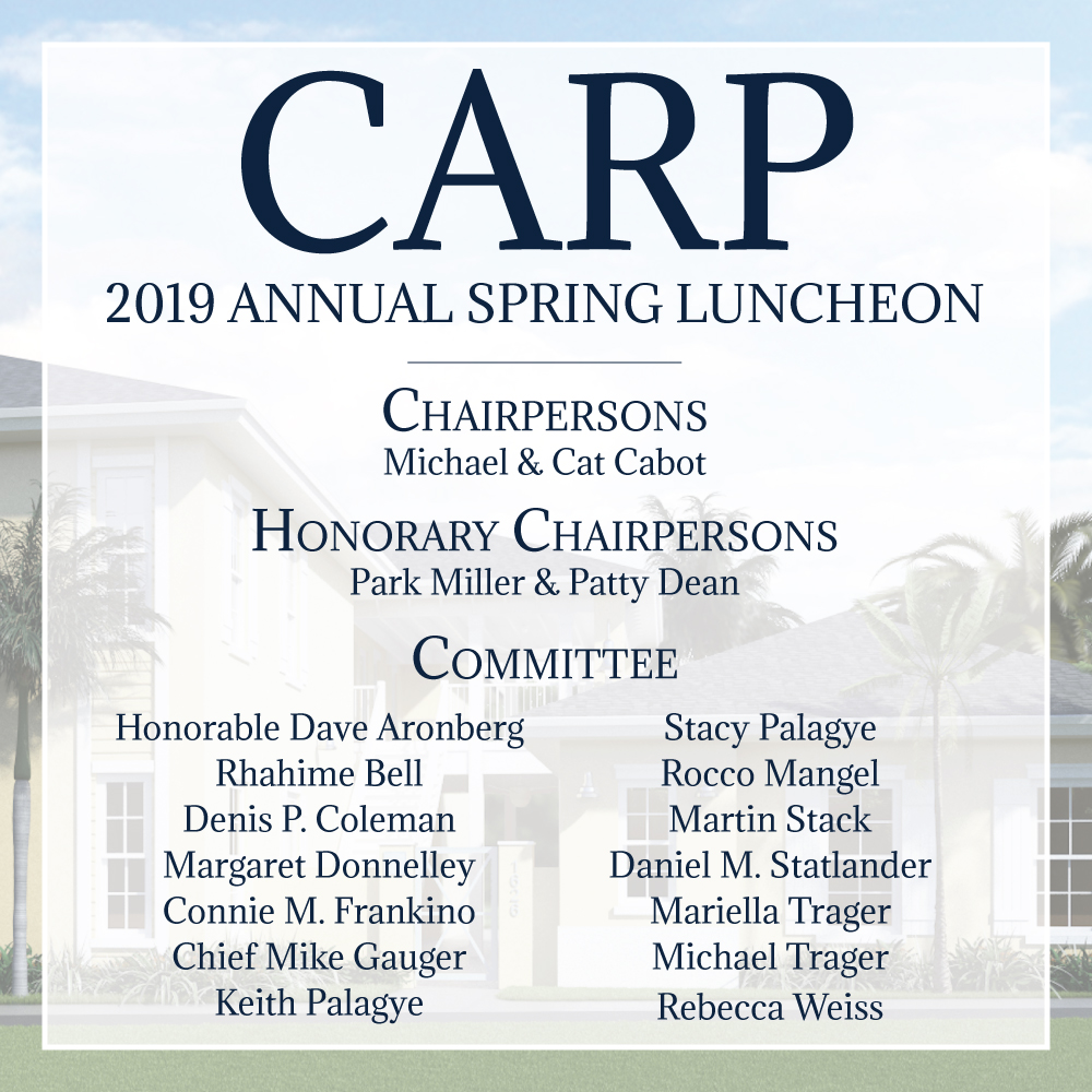 CARP 2019 Annua; Spring Luncheon Committee