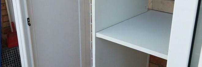 Armarios metlicos de exterior tipo caseta en Barcelona