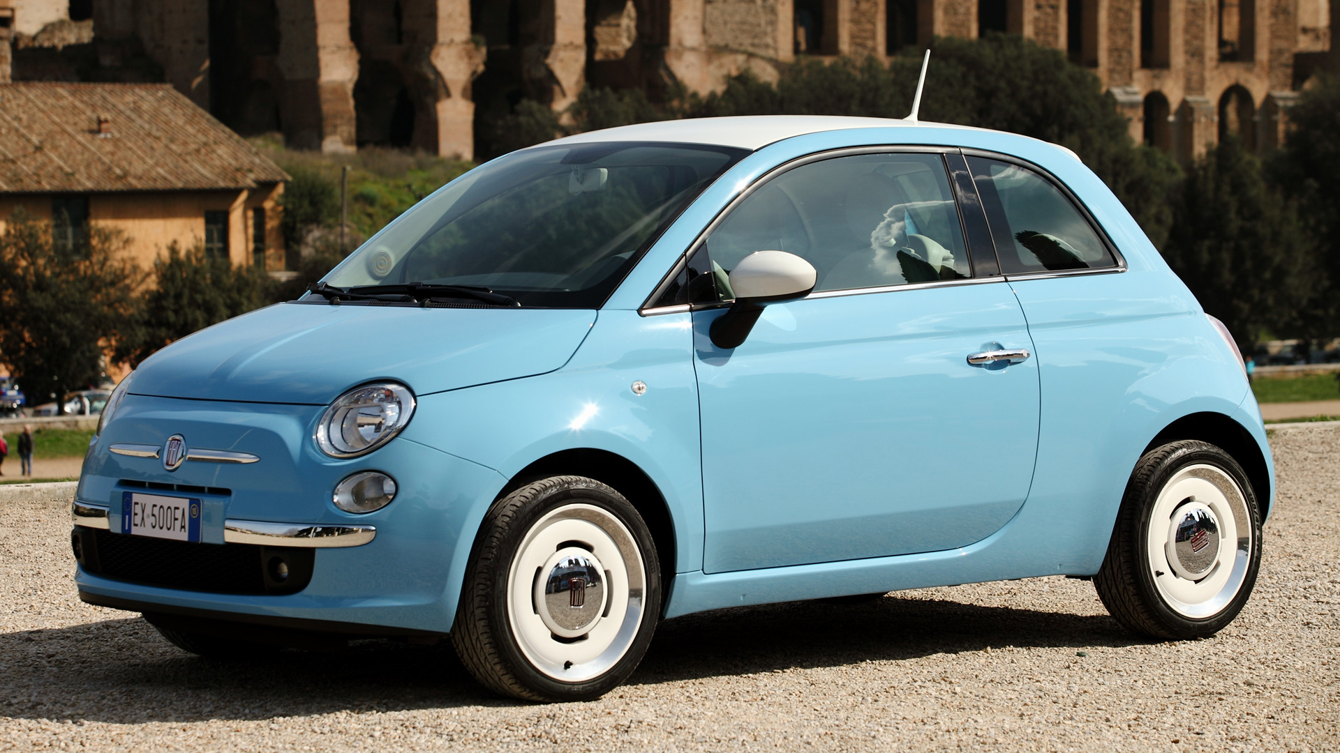 Blue Jaguar Cars Wallpapers Fiat 500 Vintage 57 2015 Wallpapers And Hd Images Car