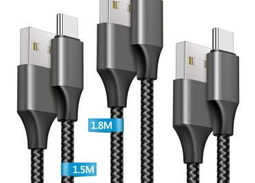 Amoner USB-A to USB-C Cable (3Pack 1M+ 1.5M +1.8M) Review