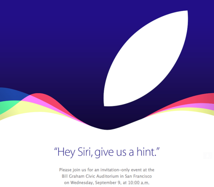 Apple Event Sept 2015