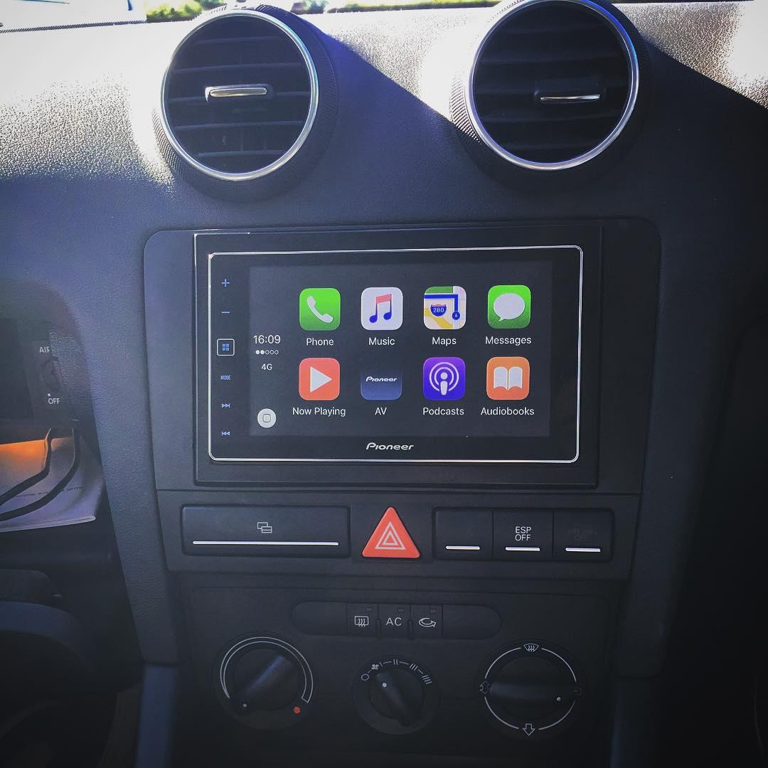 Carplay Installs Pioneer Sph Da120 In A Audi A3 Carplay